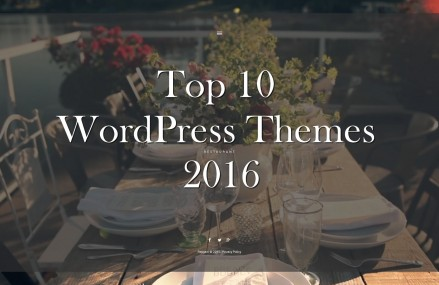 Check out the Top 10 WordPress Themes of 2016