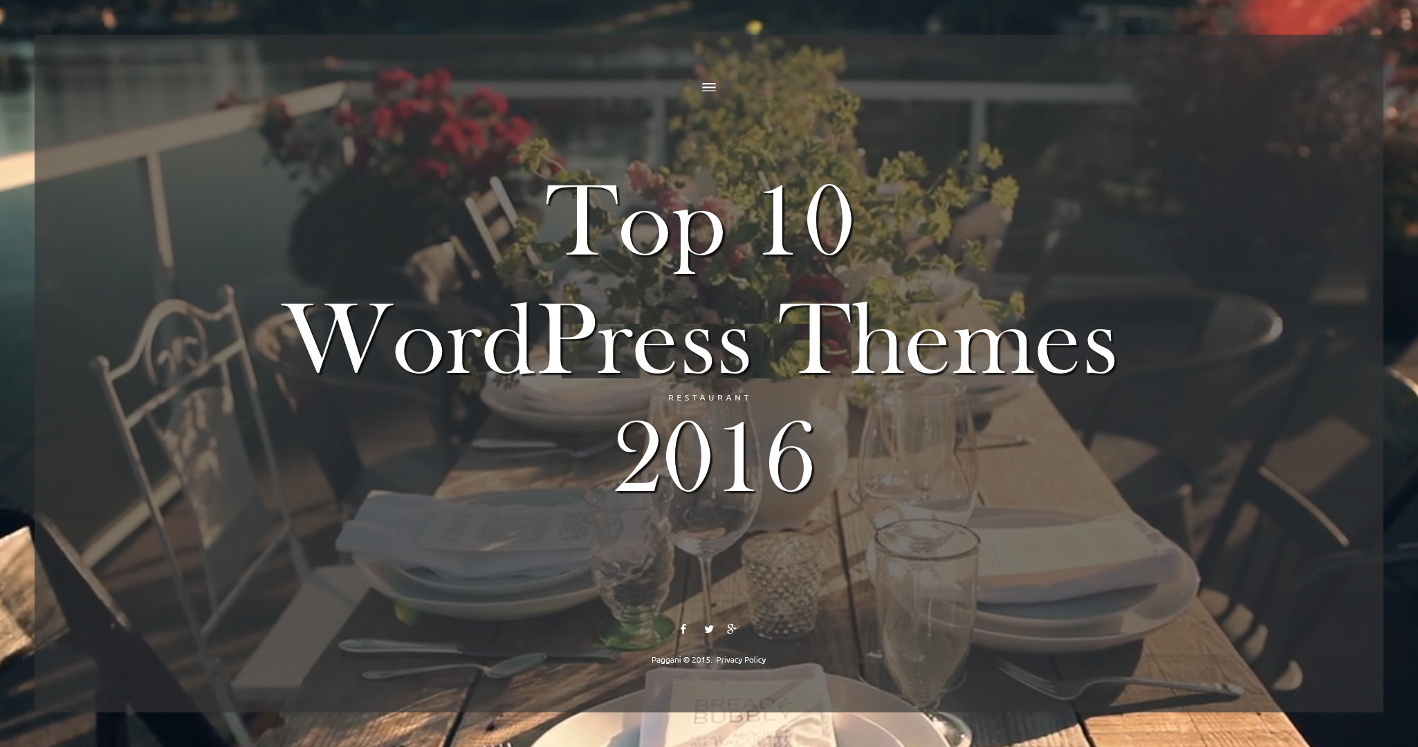top 10 wordpress themes 2016